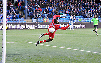 Fotball Herrer Tippeligaen 2013<br /> Marienlyst Stadion Gamle Gress  07.04.2013<br /> <br /> Strømsgodset vs Sarpsborg 08<br /> <br /> Resultat 1 - 1<br /> <br /> Foto: Robert Christensen Digitalsport<br /> <br /> Sarpsborg 08 keeper Duwayne Kerr gjorde en flott jobb i dag