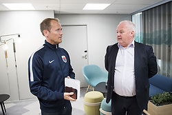 August 31, 2017 - Oslo, NORWAY - 170831 Communications director Svein Graff and president Terje Svendsen of the Norwegian Football Association (NFF) after a press conference regarding football player Ada Hegerberg (not pictured) taking a break from the national team on August 31, 2017 in Oslo..Photo: Jon Olav Nesvold / BILDBYRN / kod JE / 160000 (Credit Image: © Jon Olav Nesvold/Bildbyran via ZUMA Wire)