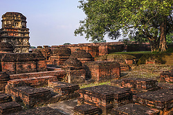 October 5, 2016 - Patna, India - Nalanda was a Mahavihara, an ancient large Buddhist monastery during the kingdom of MAgadha. It was founded in the 5th century CE. At its peak many famous scholars and students from central Asia attended. The site is located 95km southeast of Patna, Bihar. Since 2016 it is an UNESCO World Heritage Site. Nalanda, Bihar Region, India  (Credit Image: © Nicolas Economou/NurPhoto via ZUMA Press)