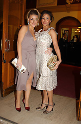 Left to right, actress SHERIDAN SMITH and actress KATHRYN DRYSDALE at the return of Dralion to celebrate the Cirque Du Soleil's 20th Anniversary at the Royal Albert Hall, London on 6th January 2005.<br />