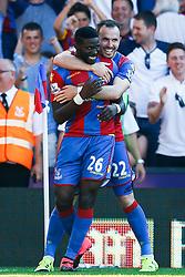 Goal, Bakary Sako of Crystal Palace scores, Crystal Palace 2-1 Aston Villa - Mandatory byline: Jason Brown/JMP - 07966386802 - 22/08/2015 - FOOTBALL - London - Selhurst Park - Crystal Palace v Aston Villa - Barclays Premier League