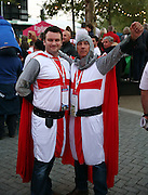 England fans prior to kick off with hopes high during the Rugby World Cup Pool A match between England and Australia at Twickenham, Richmond, United Kingdom on 3 October 2015. Photo by Matthew Redman.