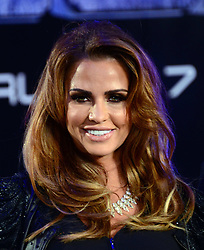 Katie Price attends The World Premiere of 'Robocop' UK film premiere, BFI IMAX, London, United Kingdom. Wednesday, 5th February 2014. Picture by Nils Jorgensen / i-Images<br />