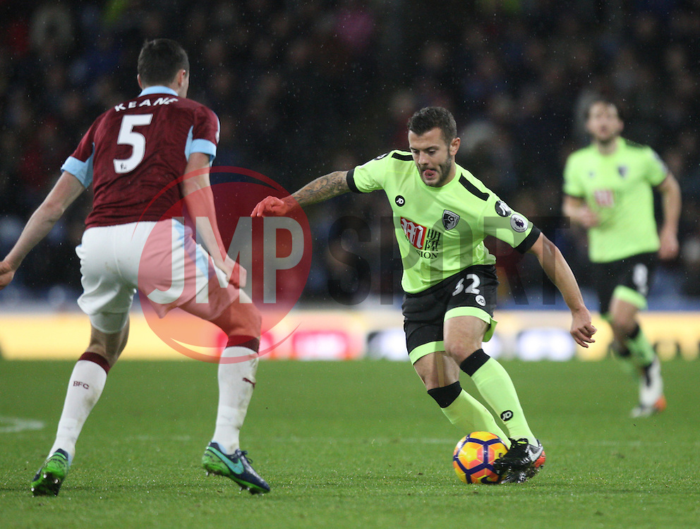 Jack Wilshere of Bournemouth (C) in action - Mandatory by-line: Jack Phillips/JMP - 10/12/2016 - FOOTBALL - Turf Moor - Burnley, England - Burnley v AFC Bournemouth - Premier League