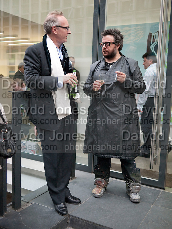 MUNGO FAGGIANATO;  HALUK AKAKCE;  , Haluk Akakce; Coming Home. Exhibition of work at the Alison Jacques Gallery. 29 April 2010. *** Local Caption *** -DO NOT ARCHIVE-© Copyright Photograph by Dafydd Jones. 248 Clapham Rd. London SW9 0PZ. Tel 0207 820 0771. www.dafjones.com.<br /> MUNGO FAGGIANATO;  HALUK AKAKCE;  , Haluk Akakce; Coming Home. Exhibition of work at the Alison Jacques Gallery. 29 April 2010.