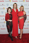 Nancy Brown, left, CEO, American Heart Association, poses with Susan Spencer, center, Editor-in-Chief, Woman's Day Magazine, and honoree Dr. Kathy Magliato, cardiothoracic surgeon and AHA board member, at Woman's Day Red Dress Awards, benefitting AHA's Go Red For Women, Tuesday February 9, 2016, in New York. (Photo by Diane Bondareff/Invision for Go Red For Women/AP Images)