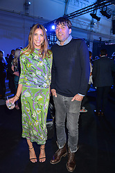 LISA SNOWDON and ALEX JAMES at the Maserati Levante VIP Launch party held at the Royal Horticultural Halls, Vincent Square, London on 26th May 2016.