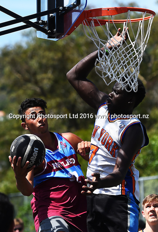 2016 Burger King 3X3 Quest National Basketball Tour. Tahunanui Beach Reserve, Nelson, New Zealand. Saturday 13 February 2016. Copyright Photo: Chris Symes / www.photosport.nz