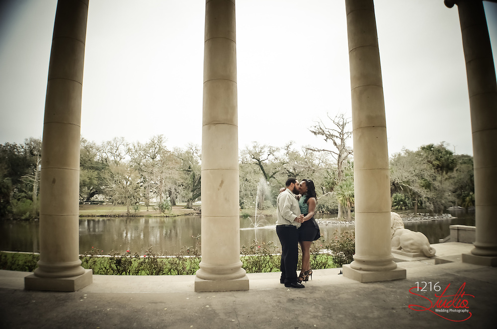 Couple Wedding Engagement - City Park New Orleans  2013 Wedding Photography 1216 Studio | Photographer