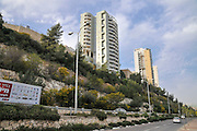 Israel, Givat Nesher, Haifa, Modern high rise apartment buildings