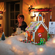 Ginger Bread House display, Candle Light Stroll at Strawbery Banke, Portsmouth, NH Dec. 2010