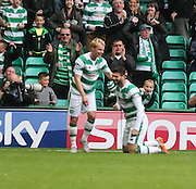 Celtic&rsquo;s Gary Mackay-Steven congratulates Nadir &Ccedil;ift&ccedil;i on his goal - Celtic v Dundee - Ladbrokes Premiership at Celtic Park<br /> <br /> <br />  - &copy; David Young - www.davidyoungphoto.co.uk - email: davidyoungphoto@gmail.com