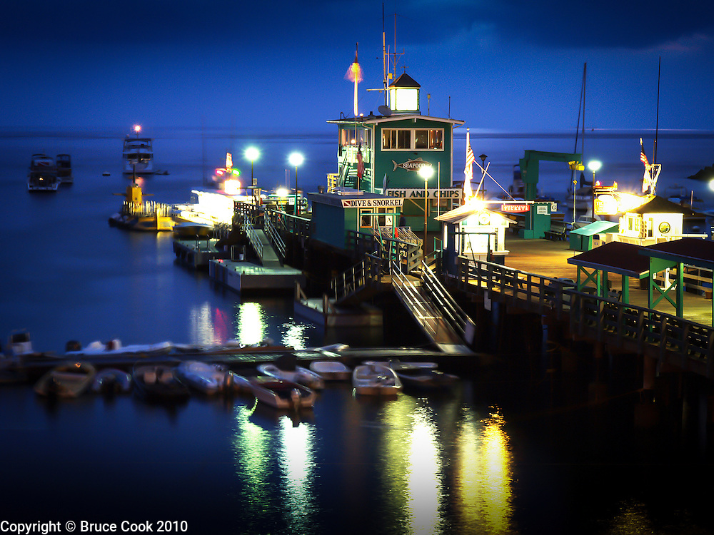 Green Pleasure Pier after dark