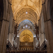 Interior of the Seville Cathedral. Seville, Spain.