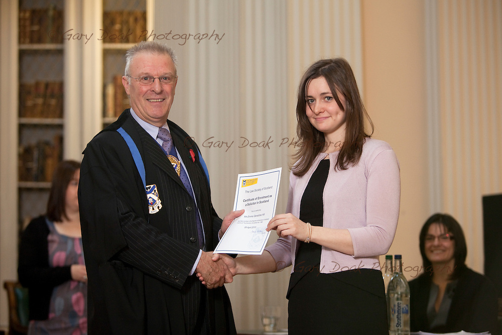 New admissions to the Law Society of Scotland, 2010.