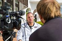 ESTEPONA - 05-01-2016, AZ in Spanje 5 januari, AZ speler Ron Vlaar, interview RTVNH, Klaas Jan Bos.
