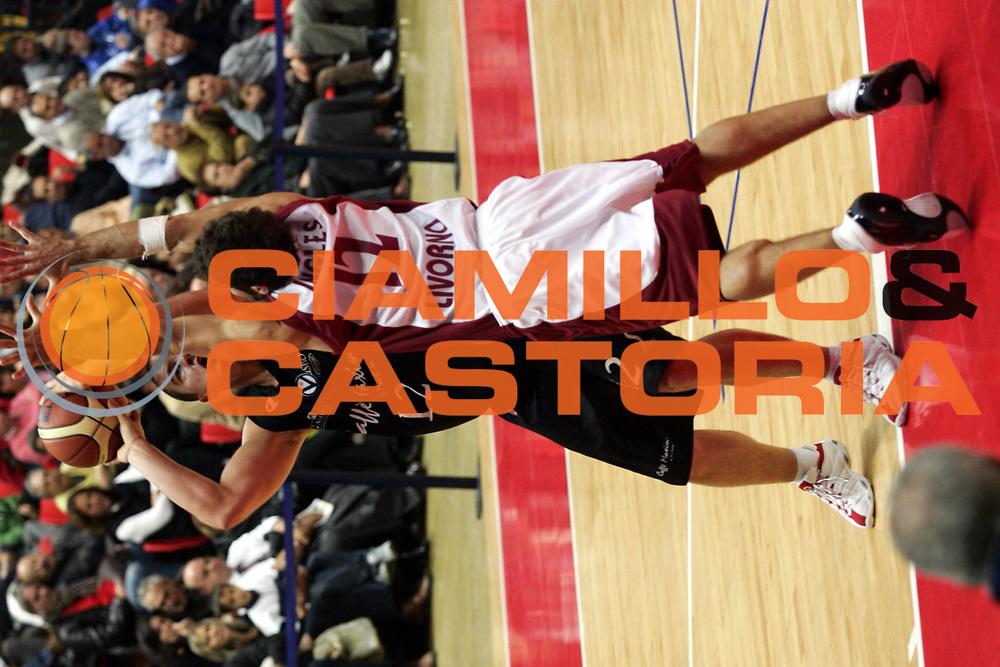 DESCRIZIONE : Livorno Lega A1 2005-06 Basket Livorno Caffe Maxim Bologna<br />GIOCATORE : Milic<br />SQUADRA : Caffe Maxim Bologna<br />EVENTO : Campionato Lega A1 2005-2006<br />GARA : Basket Livorno Caffe Maxim Bologna<br />DATA : 20/11/2005<br />CATEGORIA : Tiro<br />SPORT : Pallacanestro<br />AUTORE : Agenzia Ciamillo-Castoria/G.Ciamillo