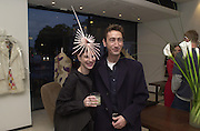 Jo Phillips and Dai Rees. Joseph Ettedgui, Isabella Blow and Michael Roberts host a private viewing of Alexandre Herchcovitch. Joseph, Fulham Rd. London. 27 September 2000. © Copyright Photograph by Dafydd Jones 66 Stockwell Park Rd. London SW9 0DA Tel 020 7733 0108 www.dafjones.com