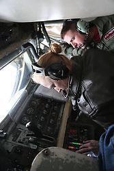 29.05.2015, Mildenhall, ENG, 100th ARW, Artic Challenge, USAFE, RAF Mildenhall, im Bild Die Boom-Opertaor einer KC 135 der USAFE bei der Betankung einer F-16 // during an aerial refueling maneuver over Mildenhall, Great Britain on 2015/05/29. EXPA Pictures © 2015, PhotoCredit: EXPA/ Eibner-Pressefoto/ Neurohr<br /> <br /> *****ATTENTION - OUT of GER*****