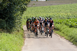 Hannah Barnes & Amy Pieters set the pace of the peloton at Boels Rental Ladies Tour Stage 6 a 159.7 km road race staring and finishing in Sittard, Netherlands on September 3, 2017. (Photo by Sean Robinson/Velofocus)