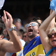 Argentinian fans celebrate a goal during the Brazil V Argentina International Football Friendly match at MetLife Stadium, East Rutherford, New Jersey, USA. 9th June 2012. Photo Tim Clayton