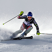 Hig Roberts, USA, in action during the Men's Slalom event during the Winter Games at Cardrona, Wanaka, New Zealand, 24th August 2011. Photo Tim Clayton...