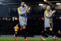 Joss Labadie of Newport County and Scot Bennett of Newport County after the final whistle of the match - Mandatory by-line: Ryan Hiscott/JMP - 16/02/2019 - FOOTBALL - Rodney Parade - Newport, Wales - Newport County v Manchester City - Emirates FA Cup fifth round proper