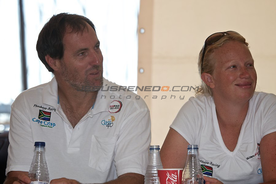 GLOBAL OCEAN RACE 2011-2012.Skippers meet the local media