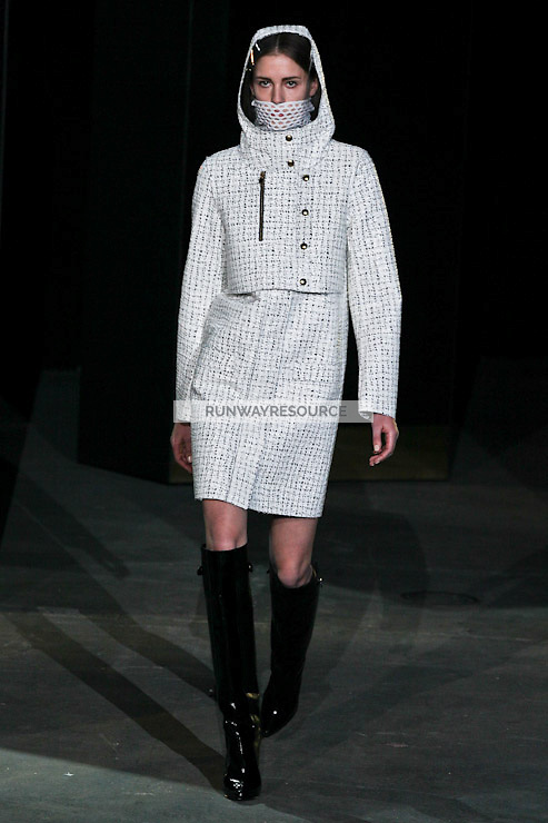 Nadja Bender walks down runway for F2012 Alexander Wang's collection in Mercedes Benz fashion week in New York on Feb 12, 2012 NYC