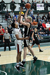 24 November 2018: Boys Basketball game between the Normal West Wildcats and the Normal Community Ironmen at Shirk Center in Bloomington