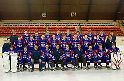 Photo session of Slovenian U20 ice-hockey team, on December 08, 2011 in Ledena dvorana, Bled, Slovenia. (Photo By Vid Ponikvar / Sportida.com)