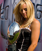 Jenny McCarthy was the top spokesperson at the 2006 Lingerie Bowl which took place at The Los Angeles Coliseum during half-time of the Superbowl.