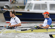 Putney, GREAT BRITAIN,  USA Eight. right, Tyler WINKLEVOSS and  Cameron WINKLEVOSS, in the opening stroke of the Pre Boat Race fixture, Oxford University BC vs USA [Select]  M8+.  08/03/2008. [Mandatory Credit, Peter Spurrier/Intersport-images] Varsity Boat Race, Rowing Course: River Thames, Championship course, Putney to Mortlake 4.25 Miles,