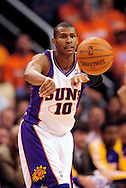 May 25, 2010; Phoenix, AZ, USA; Phoenix Suns guard Leandro Barbosa (10) makes a pass during the second half in game four of the western conference finals in the 2010 NBA Playoffs at US Airways Center.  The Suns defeated the Lakers 115 - 106.  Mandatory Credit: Jennifer Stewart-US PRESSWIRE