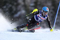 06.01.2014, Stelvio, Bormio, ITA, FIS Weltcup Ski Alpin, Bormio, Slalom, Herren, im Bild Stefano Gross // Stefano Gross  in action during mens Slalom of the Bormio FIS Ski World Cup at the Stelvio in Bormio, Italy on 2014/01/06. EXPA Pictures © 2014, PhotoCredit: EXPA/ Sammy Minkoff<br /> <br /> *****ATTENTION - OUT of GER*****