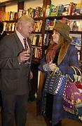 Stanley Johnson and Mary Killen. Book party for 'The Dream of Rome' by Boris Johnson. Daunts bookshop. Marylebone High St. London.  1 February 2006. -DO NOT ARCHIVE-© Copyright Photograph by Dafydd Jones 66 Stockwell Park Rd. London SW9 0DA Tel 020 7733 0108 www.dafjones.com