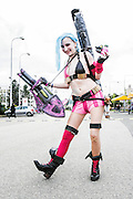 Jinx of  league of legends. Cosplayer at Animefest 2015 in the city of Brno, czech republic.