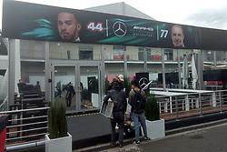 October 25, 2017 - EUM20171025DEP02.JPG.CIUDAD DE MÉXICO RacesCarreras-GP México.- Aspectos generales de la zona de paddock del Autódromo Hermanos Rodríguez a un par de días de que inicie el Gran Premio de México, 25 de octubre de 2017. Foto: Agencia EL UNIVERSALRenzo ChiquitoMAVC (Credit Image: © El Universal via ZUMA Wire)