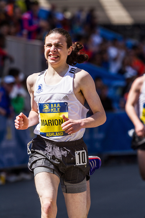 Boston Marathon: BAA Scholastic Mile, boys, Mariona