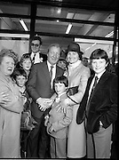 15/05/1982<br /> 05/15/1982<br /> 15 May 1982<br /> An Taoiseach, Mr Charles Haughey, canvasing with Fianna Fail bye-election candidate Eileen Lemass in Dublin West. An Taoiseach is greeted by Mrs. Kathleen Lynn of Coolmine Road, Blanchardstown, Co. Dublin and her son, Clarence, who made his First Holy Communion that day.