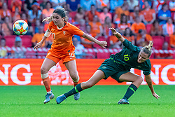 01-06-2019 NED: Netherlands - Australia, Eindhoven<br /> <br /> Friendly match in Philips stadion Eindhoven. Netherlands win 3-0 / Danielle van de Donk #10 of The Netherlands, Emily van Egmond #10 of Australia