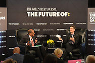 The WSJ The Future Of:Education featuring ROGER FERGUSON, President and CEO of TIAA, interviewed by Dennis K. Berman, Financial Editor at The Wall Street Journal, in New York City on December 12, 2017. (photo by Gabe Palacio)