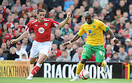 Bristol - Saturday, October 18th, 2008: Bradley Orr of Bristol City and Leroy Lita of Norwich City during the Coca Cola Championship match at Ashton Gate, Bristol. (Pic by Alex Broadway/Focus Images)