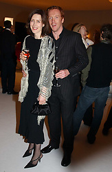DAMIAN LEWIS and GINA MCKEE    at the Moet & Chandon Fashion Tribute 2005 to Matthew Williamson, held at Old Billingsgate, City of London on 16th February 2005.<br />