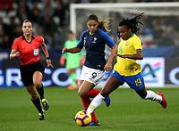 International Women's Friendly Matchs 2018 / <br /> France v Brazil 3-1 ( Allianz Riviera Stadium - Nice,France ) - <br /> Ludmila Silva of Brazil (R) ,challenge with Delphine Cascarino of France (L)