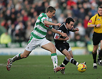Photo: Lee Earle.<br /> Yeovil Town v Swansea City. Coca Cola League 1. 24/02/2007.Swansea's Leon Britton is challenged by Chris Cohen.