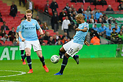 Fernandinho (25) of Manchester City shoots at goal during the Carabao Cup Final match between Chelsea and Manchester City at Wembley Stadium, London, England on 24 February 2019.