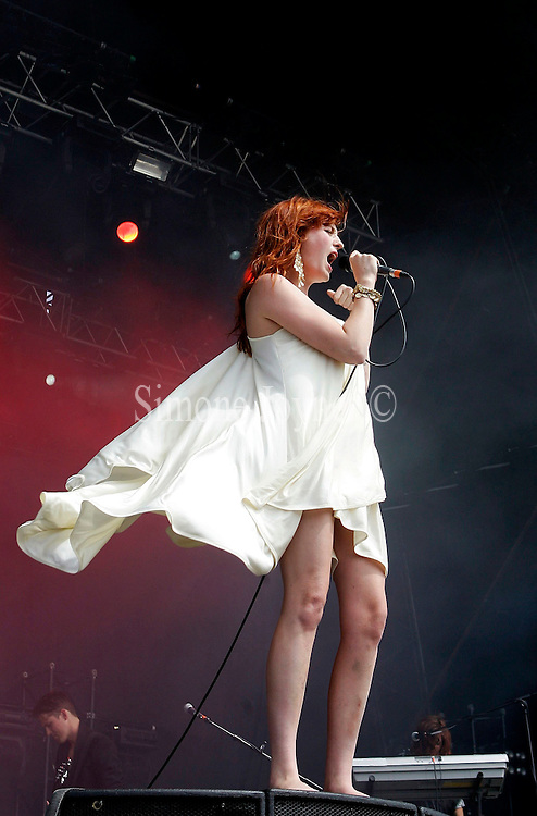 Florence Welch aka Florence and The Machine performs live on the main stage during day one of The Hop Farm Festival 2009 at Hop Farm Family Park on July 4, 2009 in Paddock Wood, England.(Photo by Simone Joyner)