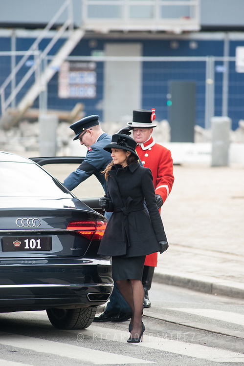 20.02.2018. Copenhagen, Denmark.<br /> Countess Alexandra's leaves at Christiansborg Palace Church. <br /> Photo: Ricardo Ramirez.