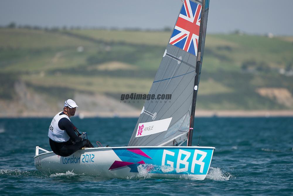2012 Olympic Games London / Weymouth<br /> <br /> Finn practice race<br /> Finn GBRAinslie Ben